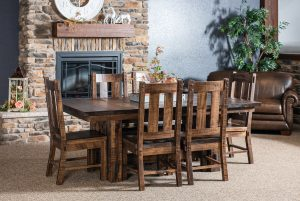 El Paso Trestle Table Dining Set