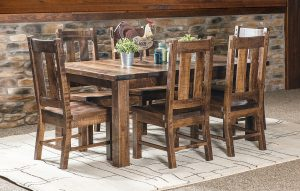 Santa Fe Leg Table Dining Set