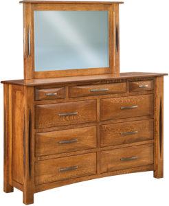 Ravena Nine-Drawer Mule Dresser
