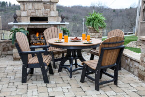 Poly Round Patio Table Set
