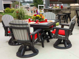 Poly Square Patio Table Set