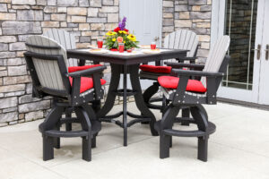 Poly Square Pub Patio Set