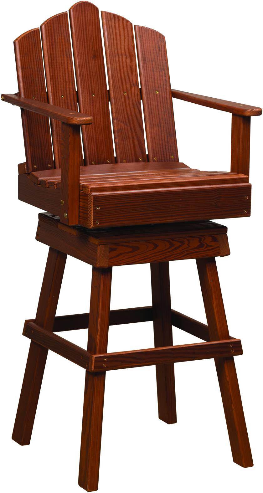 Cedar Captain's Swivel Chair