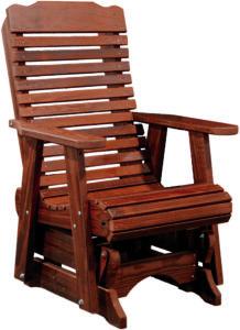 Cedar Contoured Glider Chair