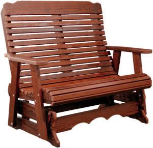 Cedar Glider Bench