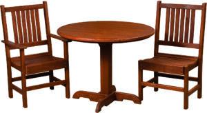 Cedar Round Table Set
