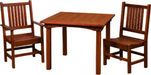 Cedar Square Table Set