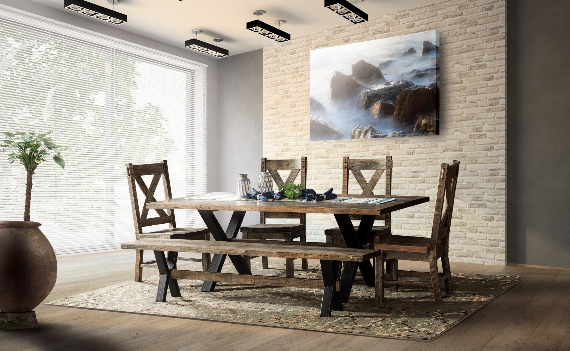 El Dorado Trestle Dining Set Brandenberry Amish Furniture