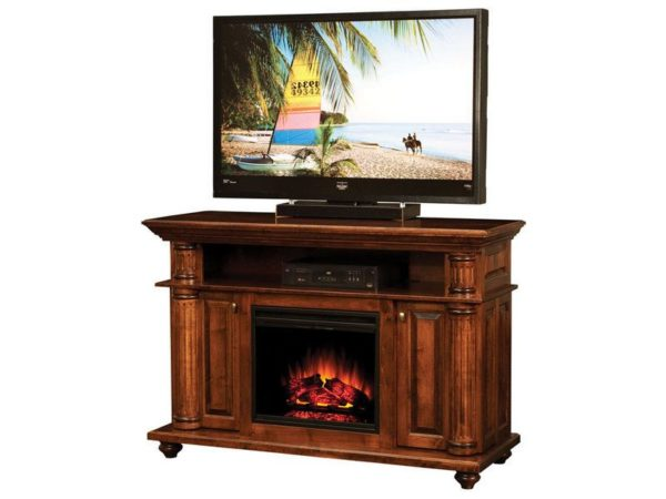 Amish Bryant Fireplace Media Console