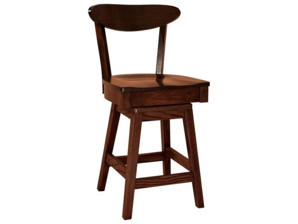 Amish Hawthorn Hardwood Swivel Bar Stool
