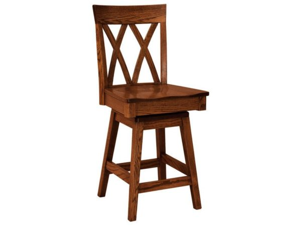 Amish Herrington Hardwood Swivel Bar Stool