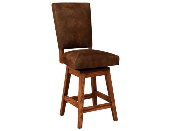 Amish Warner Hardwood Swivel Bar Stool