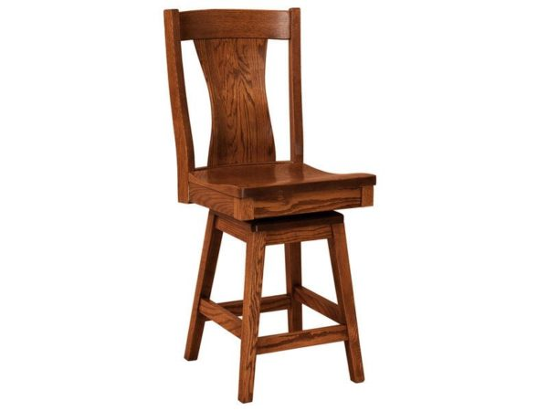 Amish Westin Hardwood Swivel Bar Stool