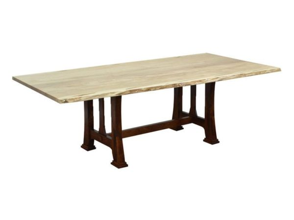 Amish Custer Live Edge Dining Room Table