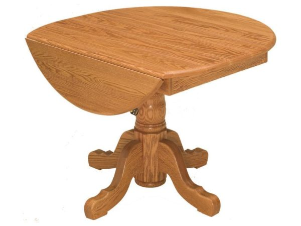Amish Pedestal Drop Leaf Table