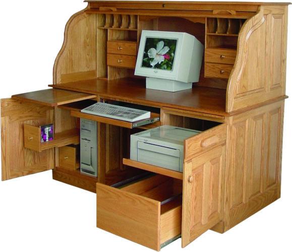 Amish Deluxe Rolltop Computer Desk