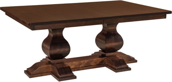 Amish Barrington Double Pedestal Dining Table