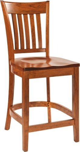 Amish Harper Wooden Bar Chair