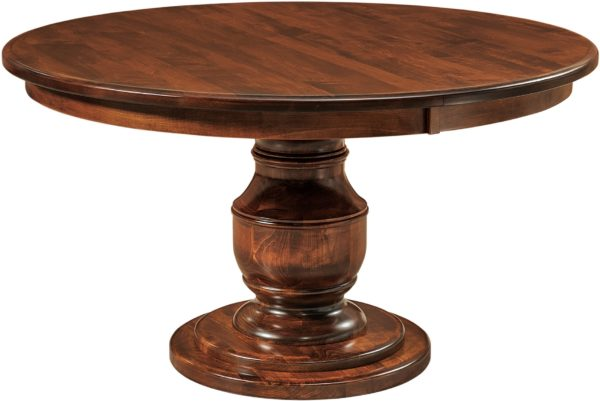 Amish Burlington Single Pedestal Dining Table