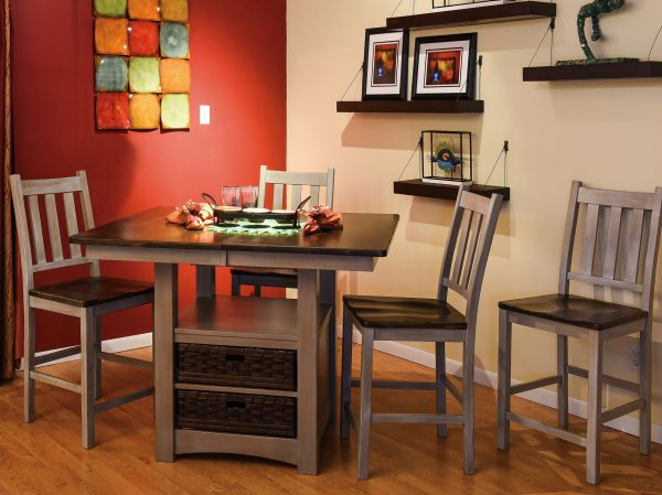 Room Setting for Amish Heidi Cabinet Table