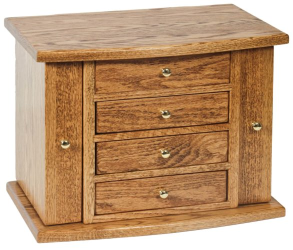 Amish Jewelry Chest-4 Drawer and Oak