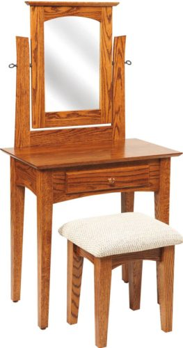 Amish 29 1/2 inch Shaker Dressing Table Oak