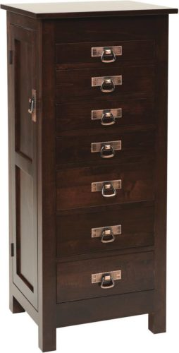 Amish 48 Inch Mission Jewelry Armoire Brown Maple
