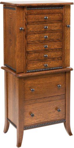 Amish Bunkerhill Jewelry Armoire Quarter Sawn White Oak