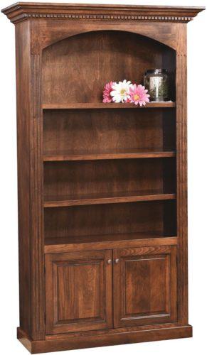 Cambridge Cabinet Bookcase Sap Cherry