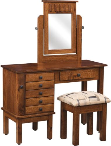 Amish Mission Creek Jewelry Dressing Table