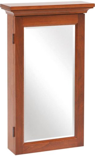 Shaker Mirrored Jewelry Armoire Amish Wall Mounted
