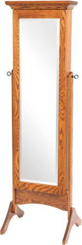 Standing Shaker Mirrored Jewelry Armoire | Amish Shaker ...