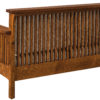 Amish Highback Slat Loveseat Back Detail
