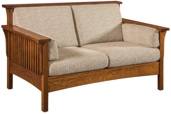 Amish Highback Slatted Loveseat