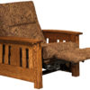 Amish McCoy Chair Recliner Mid-Reclined
