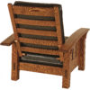Amish McCoy Morris Chair Back Detail