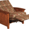 Amish Skyline Panel Recliner Fully Reclined