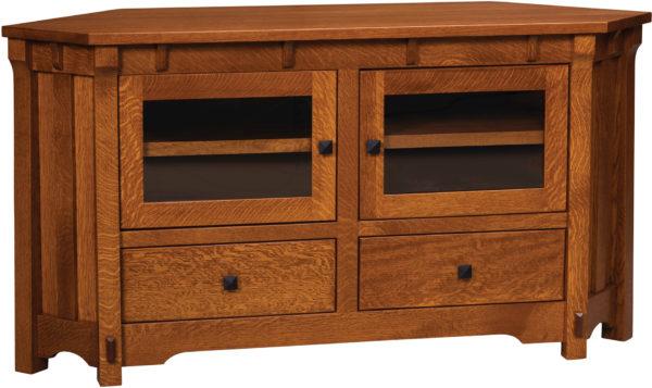 Amish Manitoba Corner TV Cabinet