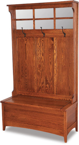 Amish Shaker Hall Seat