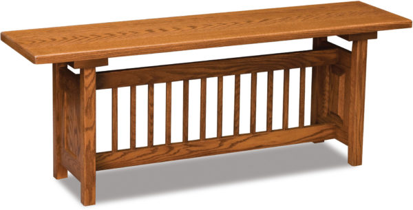 Amish Classic Mission Trestle Bench