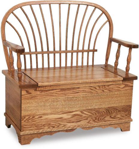 Amish Sheaf Bow Bench