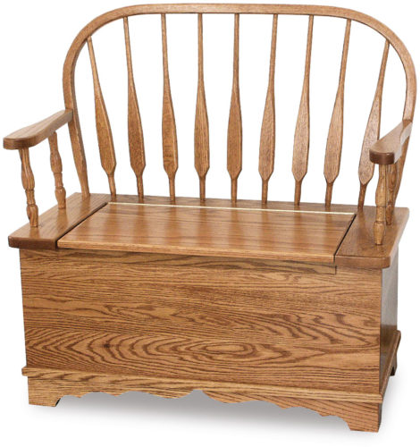 Amish Low Feather Bow Bench