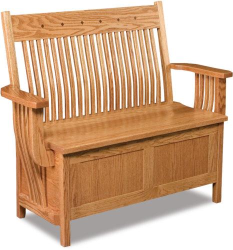 Amish Lowback Regular Mission Bench Side