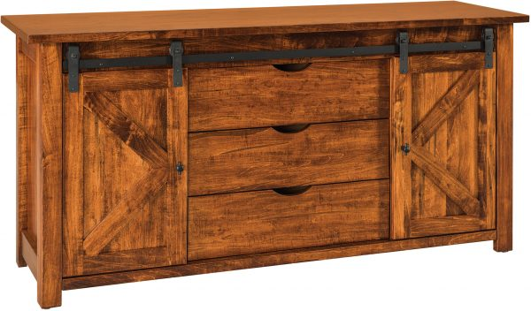Amish Teton Barn Door Sofa Table