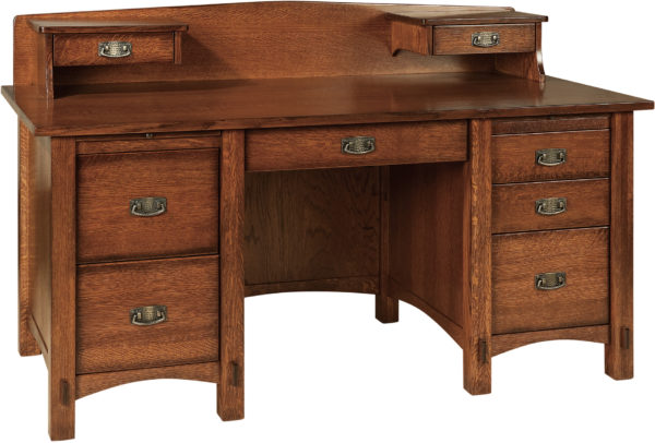 Amish Springhill Pencil Desk with Topper