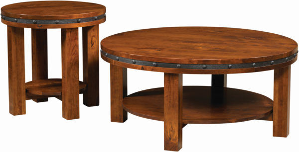 Amish Pasadena Round Occasional Tables
