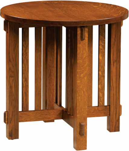 Amish Round Rio Mission End Table