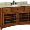 Amish Springhill Large Single Bowl Free Standing Sink Cabinet