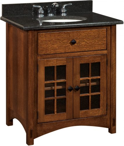 Amish Springhill Small Free Standing Sink Cabinet