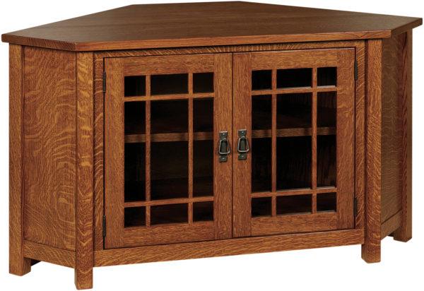 Amish Landmark TV Corner Cabinet